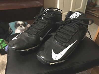 newest a438d d214c NIKE ALPHA MEN S SIZE 10.5 FOOTBALL CLEATS BLACK   WHITE FASTFLEX SHOES  SPORTS