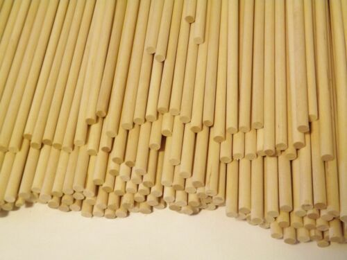 """Wooden Dowels Rods  1/4"""" x 12"""" - 25 pack"""