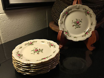 "Rosenthal Germany Antoinette Pompadour Pink Rose 6 1/4"" Bread & Butter Plate"