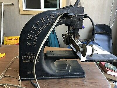Antique Kwikprint Gold Stamping Machine