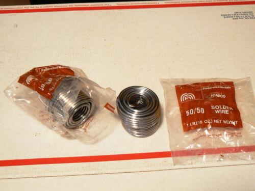 Federated Metals 2 LB. 50/50 Solder Wire .125 Diameter/ 50/50 Solder Two Rolls