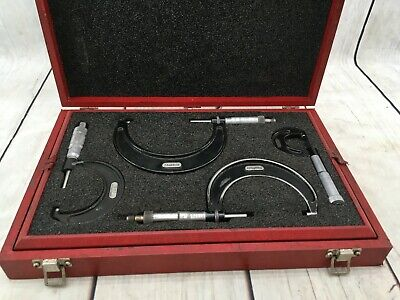 Starrett No.436 Outside Micrometer Set W Central Tool Co. Case