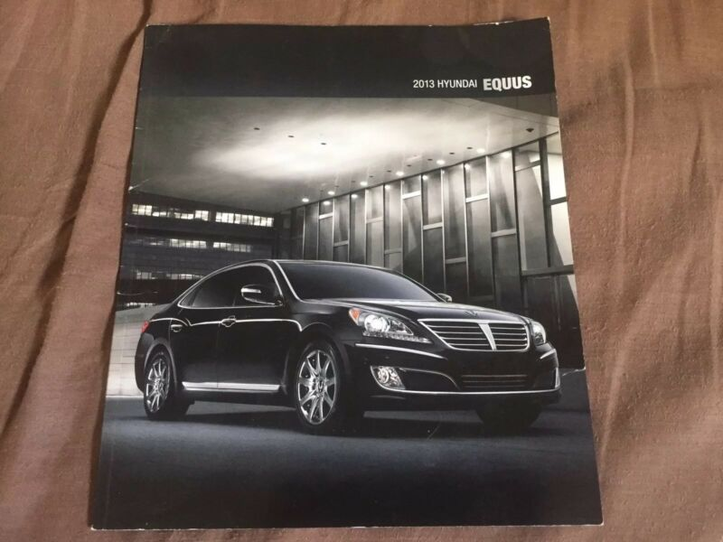 2013 Hyundia Equus Luxury Sedan USA Market Color Brochure Catalog Prospekt