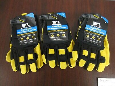 Wells Lamont Hydrahyde Premium Leather Work Gloves Size Large New