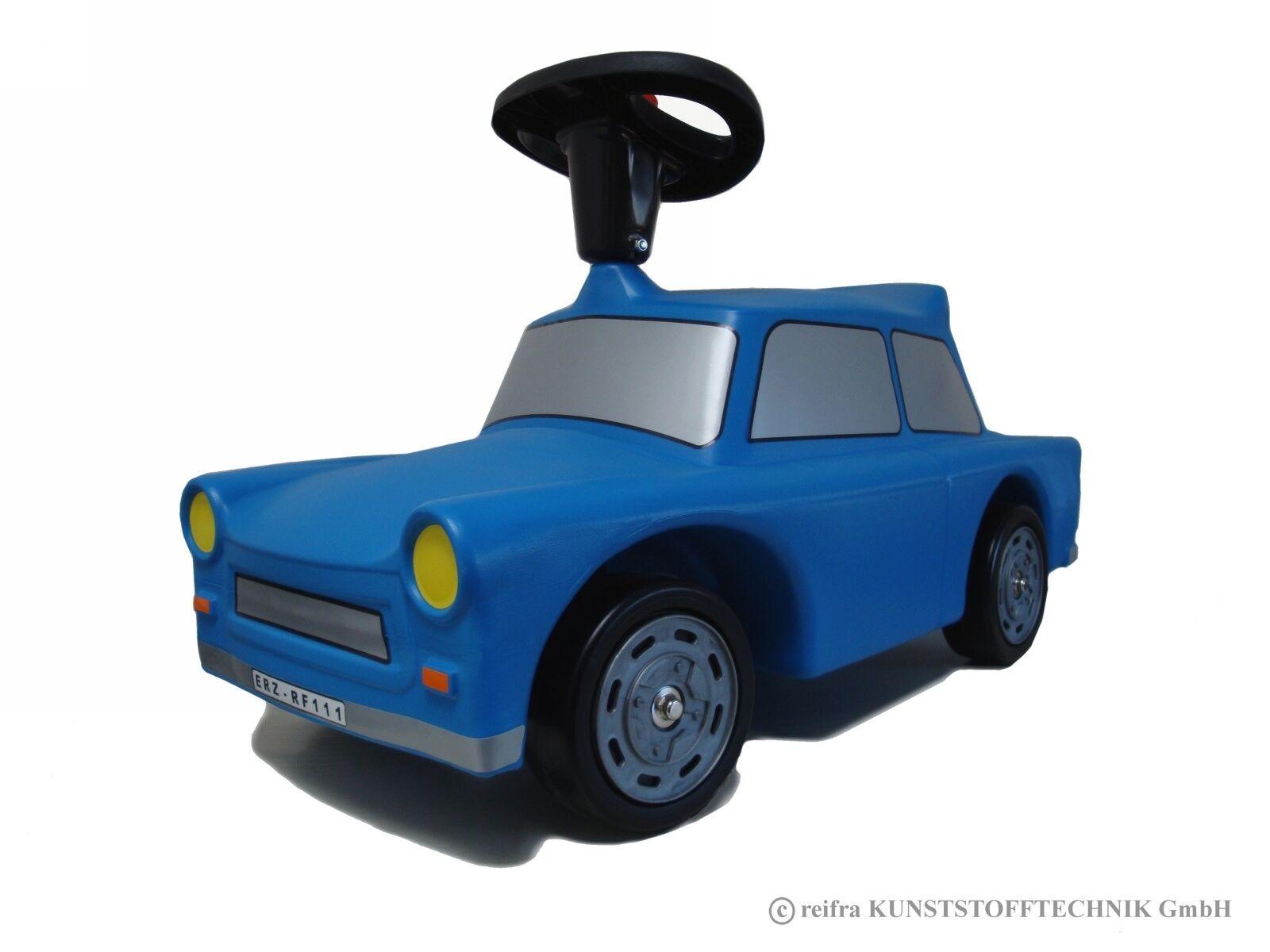 Babyrutscher Trabant Trabi Kultauto blau DDR Kinderfahrzeug Rutscher reifra Auto
