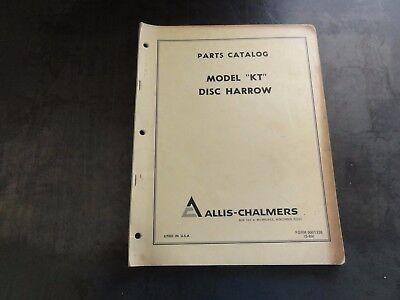 Allis-chalmers Model Kt Disc Harrow Parts Catalog Manual