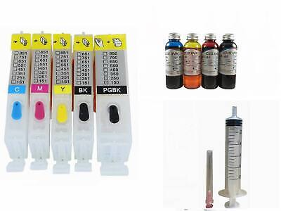 Empty Cartridge PGI-250 CLI-251 Canon MX922 MG5520 MG5522 +400ml Edible Ink