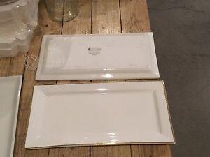 Maxwell & William white gold rectangular platters +large platter Thornbury Darebin Area Preview