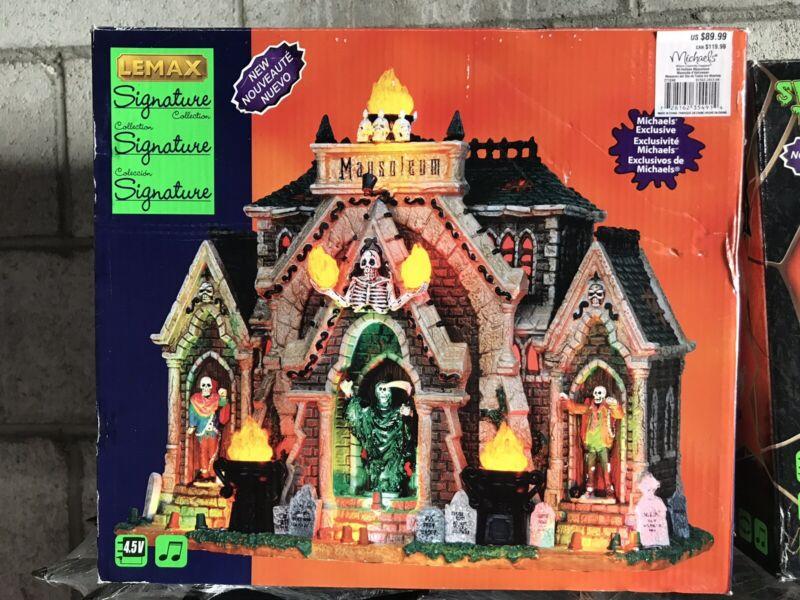 Lemax Halloween ALL HALLOWS MAUSOLEUM -  Lights & Sound - Perfect Condition