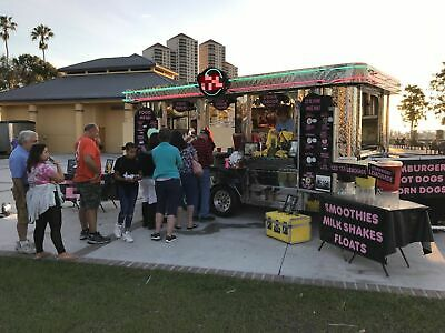 Beautiful Retro Style 2002 8.5 X 16 Mobile Kitchen Food Concession Trailer For
