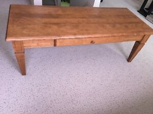 Cherry Wood Coffee Table With Matching 2 End Tables
