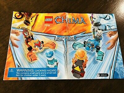 LEGO Chima Fire Vs Ice (70156) - Completed.