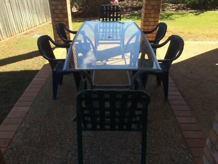 Glass outdoor table and chairs Bridgeman Downs Brisbane North East Preview