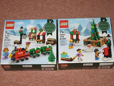 LEGO Holiday 40262 Christmas Train Ride 40263 Christmas Town Square New Sealed