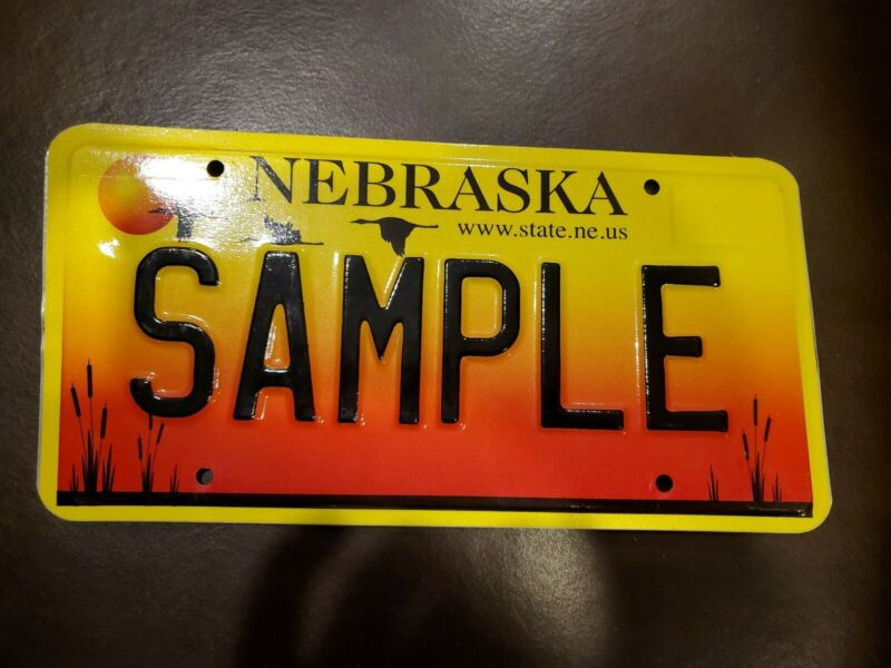 Nebraska SAMPLE License Plate