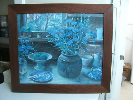 Beautiful Framed Cornflower Picture & More