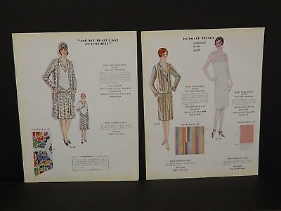 Fashion Men/Women Get 14 Dbl Side Paper c.1920s X1#53