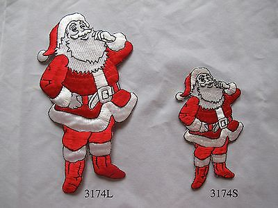 #3174 Christmas Santa Claus Embroidery Iron On Applique Patch ()