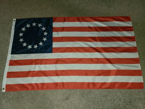 Betsy Ross Flag 13 Colonies 3X5 Polyester Made For Indoor/Outdoor Use.