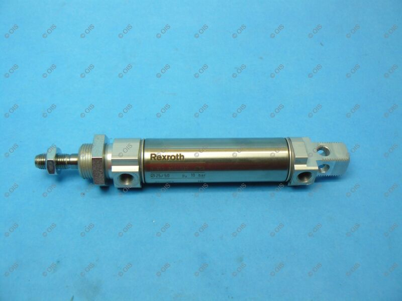 Rexroth 0822034203 Pneumatic Cylinder Double-Acting 25mm Bore 50mm Stroke