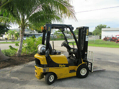 Yale Glp030vx 3000 Lb Forklift Propane Side Shift - Lift 188 3 Stage 3585 Hrs