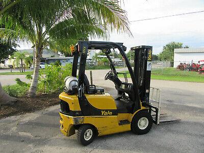 Yale Glp030vx 3000 Lb Forklift Propane Side Shift - Lift 188 3 Stage 3585 Hrs