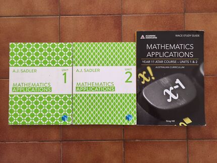 Year 11 ATAR Maths applications books