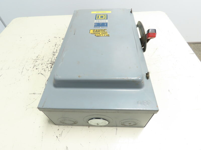 Square D HU364 Safety Disconnect Switch 200 Amp 600V 250VDC 3P C1 Non-Fusible