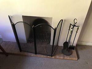 Open fireplace screen and tools Warrawee Ku-ring-gai Area Preview