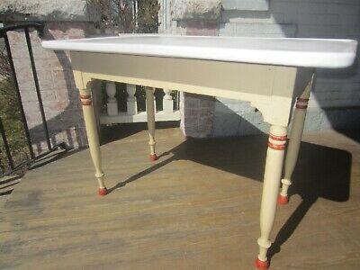 Vintage/Antique Enamel top table kitchen table 1930-40