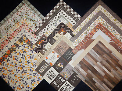 12x12 Scrapbook Paper Cardstock Jen Hadfield Pioneer Simple Life Country 24 Lot