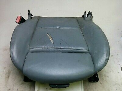 BMW E46 Driver's Power heated sport seat bottom assembly with motors / rails Gray Bottom Rail