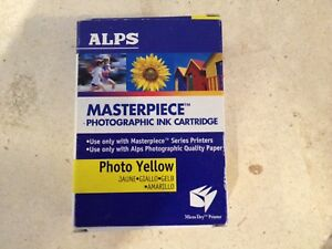 Alps Masterpiece photographic ink cartridges.