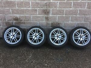 "Audi A4 18"" rims and winter tires p235/40r18"