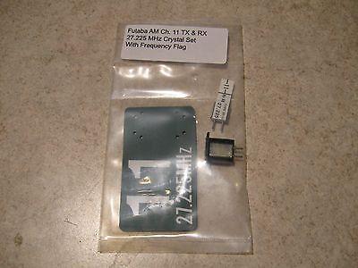 FUTABA AM CH.11 TX & RX 27.225 MHz CRYSTAL SET W/FREQUENCY FLAG