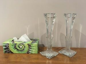 Tall glass candlestick holders London Ontario image 2