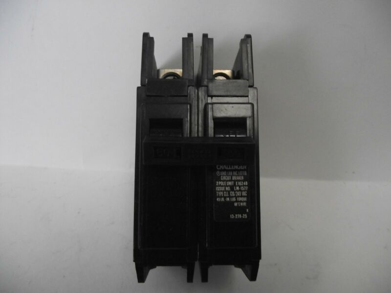 CHALLENGER  ,CUTLER HAMMER QC2060  CIRCUIT BREAKERS  GE THQC2160WL  2 POLE 60 AM