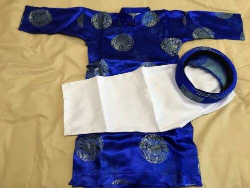 Vietnamese Ao Dai Boys Blue - Size 3-9 - 3 Piece Set