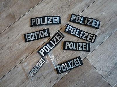8 POLIZEI Patches Klett, 13cm, TOP !