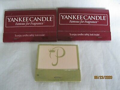Vintage advertising Matches - Yankee Candle and Princess Hotel Golf and Beach cl
