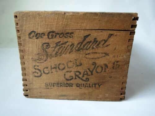 Antique Wooden Shipping Crate Standard School Crayons