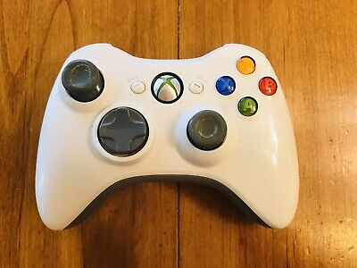 White OEM XBOX 360 Wireless Controller Tested Works Good!