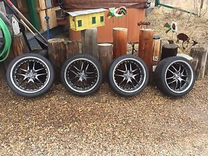 Aftermarket tires and rims for a 4 bolt car