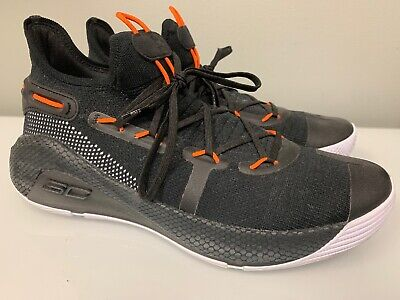 Mens Under Armour Steph Curry Basketball Shoes Preowned Black/orange Size 12
