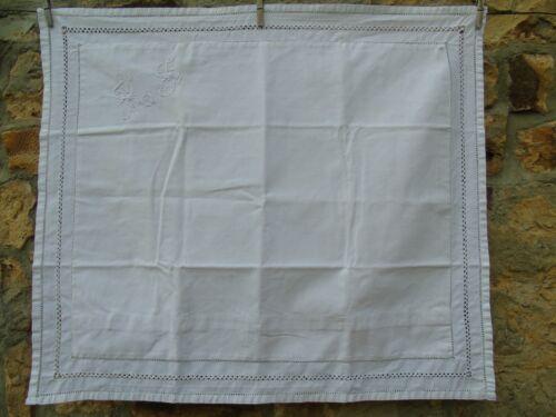 French white linen antique vintage euro sham pillow case monogram
