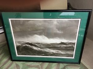 Large Framed Photo Ocean Madness Look!