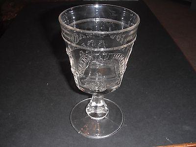 GILLINDER GLASS LIBERTY BELL COMMEMORATIVE GOBLET 1776-1876 EAPG PHILADELPHIA EX