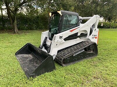 2014 Bobcat T870 Skid Steer - Enclosed Cab - Sjc - High Flow - 2 Speed - Aux Hyd