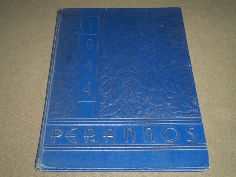 1944 PERANNOS NEW CANAAN HIGH SCHOOL YEARBOOK - CONNECTICUT - YB 955