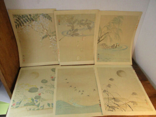 12 Japanese Prints Birds Flowers